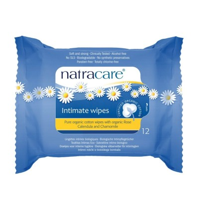 NatraCare Intimate Wipes 12 stk