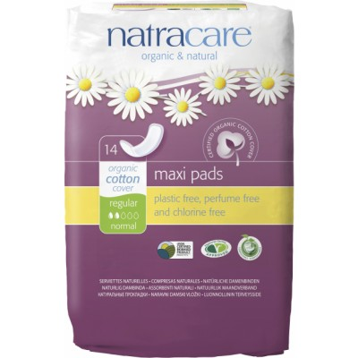 NatraCare Maxi Pads Regular Normal 14 st