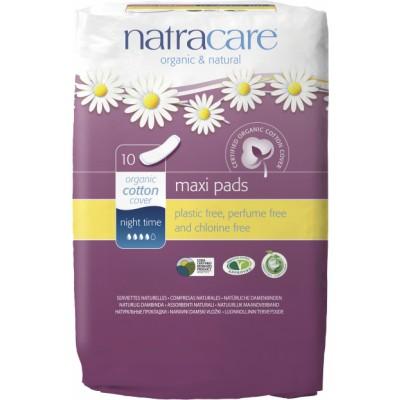 NatraCare Maxi Pads Night Time 10 kpl