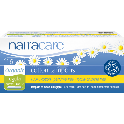 NatraCare Organic Cotton Tampons Regular 16 pcs