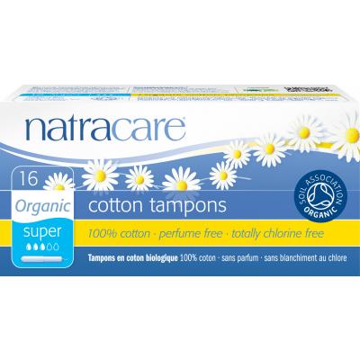 NatraCare Organic Cotton Tampons Super 16 kpl