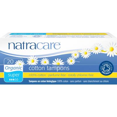 NatraCare Organic Cotton Tampons Super 20 kpl