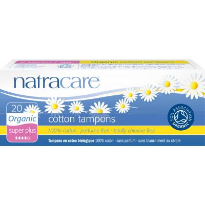 NatraCare Organic Cotton Tampons Super Plus 20 kpl