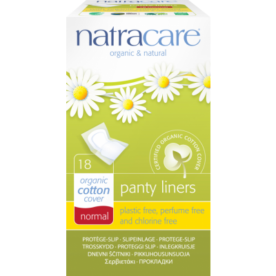 NatraCare Organic Cotton Panty Liners Normal 18 st