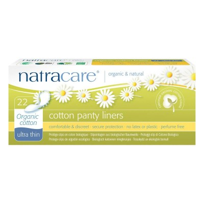 NatraCare Organic Cotton Panty Liners Ultra Thin 22 pcs