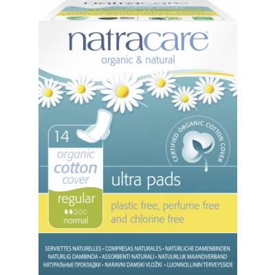 NatraCare Organic Cotton Ultra Pads Regular Normal 14 stk