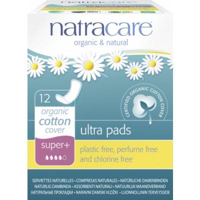 NatraCare Organic Cotton Ultra Pads Super+ 12 stk