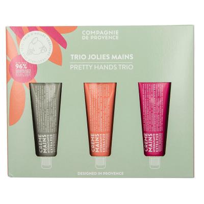 Compagnie De Provence  Pretty Hands Trio Olive Wood, Pink Grapefruit & Wild Rose 3 x 30 ml