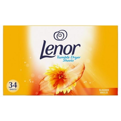 Lenor Tumble Dryer Sheets Summer Breeze 34 st