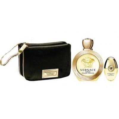 Versace Eros Pour Femme EDP & EDP Spray & Black Cosmetic Bag 100 ml + 10 ml + 1 stk