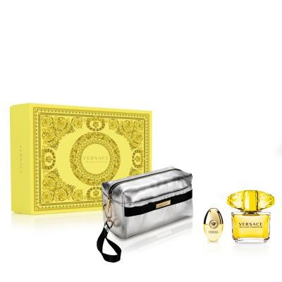 Versace Yellow Diamond EDT & EDT Mini & Pouch 90 ml + 10 ml + 1 stk
