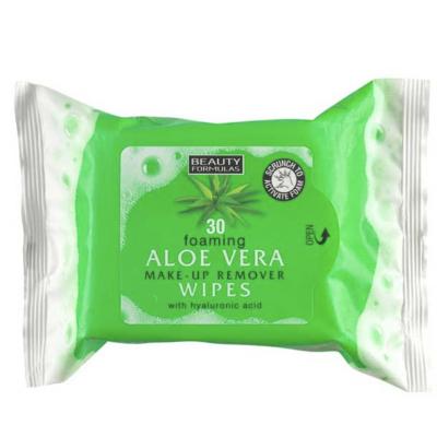 Beauty Formulas Foaming Aloe Vera Make-Up Remover Wipes 30 st