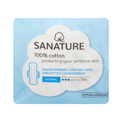Sanature Pads With Wings Normal 10 pcs