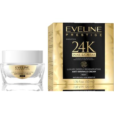 Eveline 24K Snail & Caviar Anti-Wrinkle Night Cream 50 ml