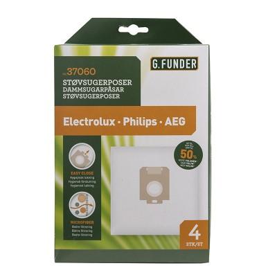 G. Funder Støvsugerposer Electrolux Philips AEG 4 stk