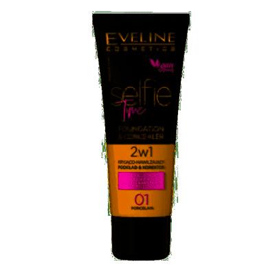 Eveline Selfie Time Foundation & Concealer 01 Porcelain 30 ml