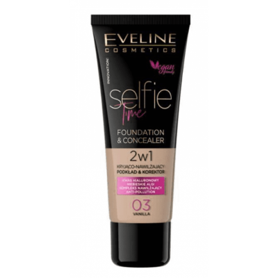 Eveline Selfie Time Foundation & Concealer 03 Vanilla 30 ml