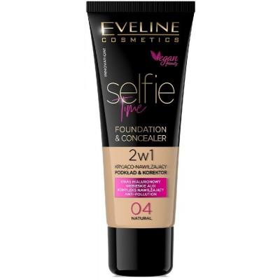 Eveline Selfie Time Foundation & Concealer 04 Natural 30 ml