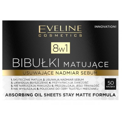 Eveline 8in1 Mattifying Blotting Paper 50 stk