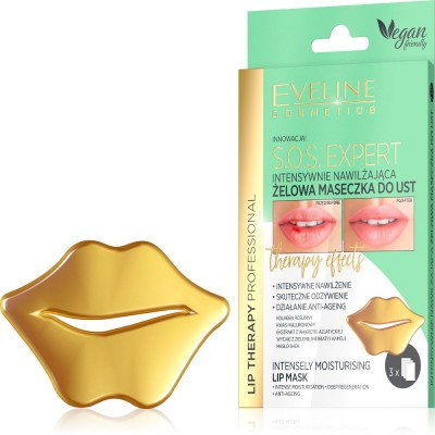 Eveline Lip Therapy Moisturising Lip Mask 3 kpl