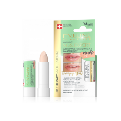 Eveline Lip Therapy S.O.S Expert Regenerating Lip Balm Nude Tint 1 st