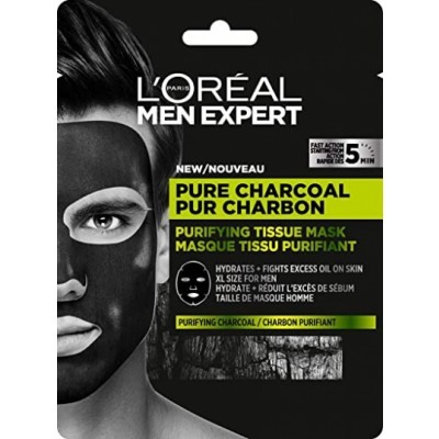 L'Oreal Men Expert Pure Charcoal Sheet Mask 1 kpl