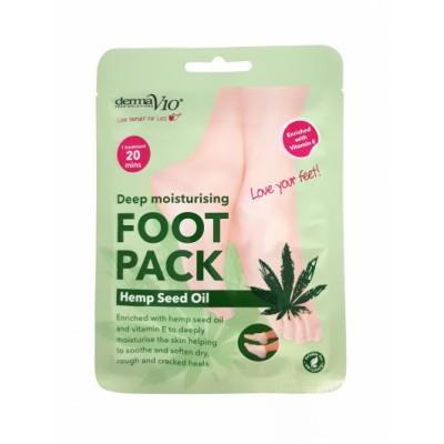 DermaV10 Deep Moisturising Foot Pack  Hemp Seed Oil 1 par