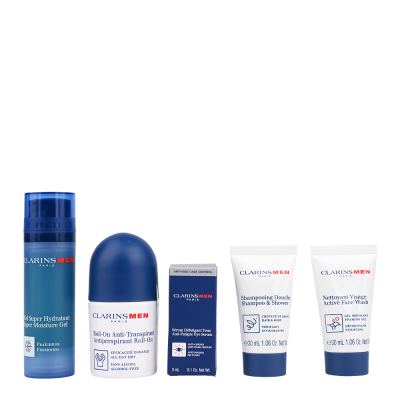 Clarins Men Grooming Essentials Travel Set 50 ml + 30 ml + 3 ml + 50 ml + 30 ml