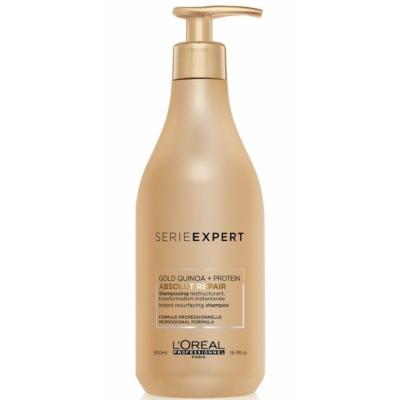 L'Oreal Serie Expert Gold Quinoa Absolut Repair Shampoo 500 ml
