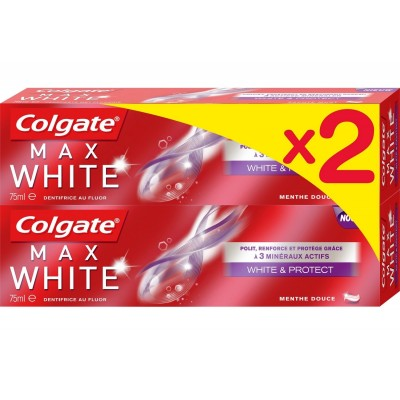 Colgate Max White White & Protect Duo 2 x 75 ml