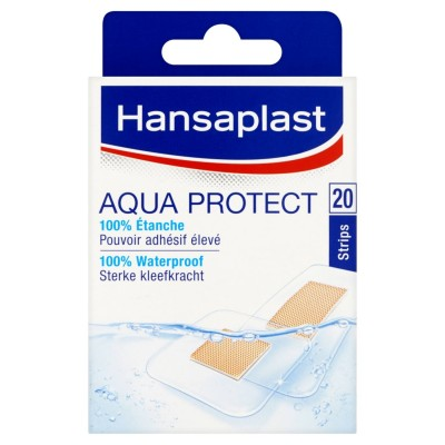 Hansaplast Aqua Protect 100% Waterproof Pleisters 20 st