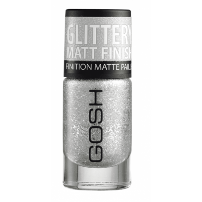 GOSH Frosted Nail Lacquer 01 Silver 8 ml