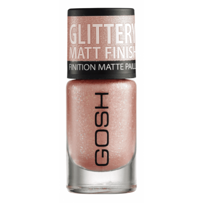 GOSH Frosted Nail Lacquer 07 Frosted Soft Coral 8 ml
