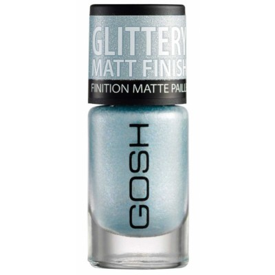 GOSH Frosted Nail Lacquer 08 Frosted Soft Blue 8 ml