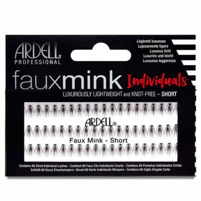 Ardell Faux Mink Individuals Knot-Free Short Black 60 kpl