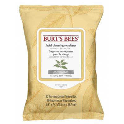 Burt's Bees Facial Cleansing Towelettes White Extract 30 pcs