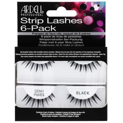 Ardell Strip Lashes Demi Pixies Black 6 par