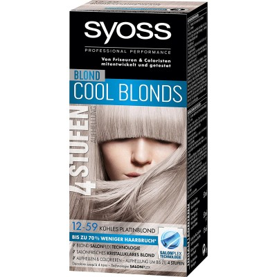 Syoss Cool Blonds 12.59 Cool Platinum Blonde 1 pcs