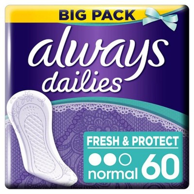 Always Dailies Pantyliners Normal 60 pcs
