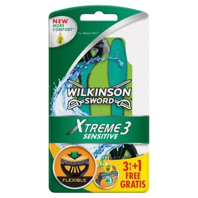 Wilkinson Sword Xtreme 3 Sensitive Razors 3 pcs + 1 pcs
