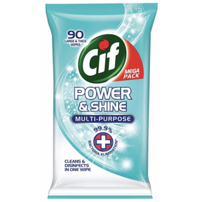 Cif Power Cleaning Wipes Original 90 kpl