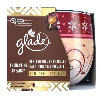 Glade Warm Honey & Chocolate Scented Candle 120 g