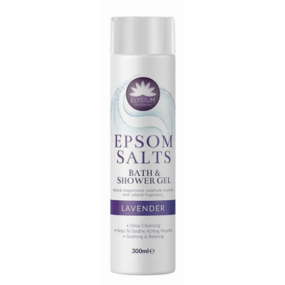 Elysium Spa Epsom Salts Bath & Shower Gel Lavender 300 ml
