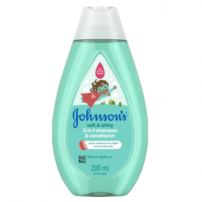 Johnson's Soft & Shiny 2 in 1 Shampoo & Conditioner 200 ml