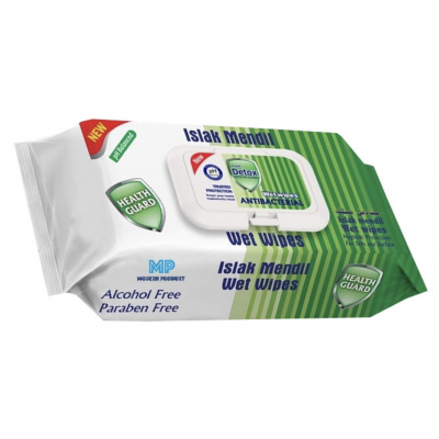 Fresh Detox Antibacterial Wet Wipes Green 80 stk