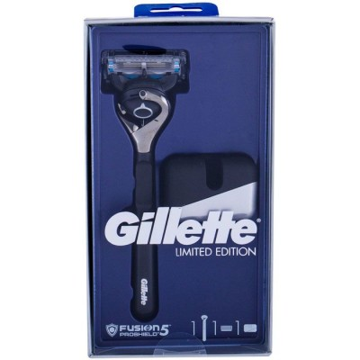 Gillette Fusion5 ProShield Limited Edition Chrome Black Razor & Stand 1 razor + 1 pcs