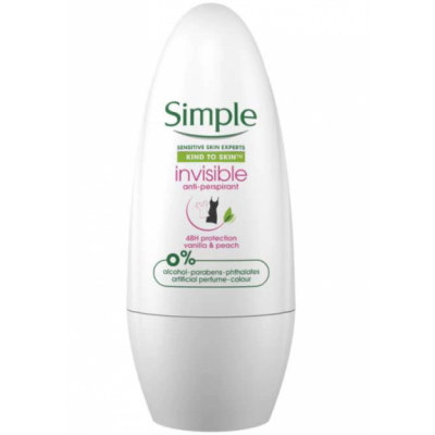 Simple Invisible Anti-Perspirant Roll-On 50 ml