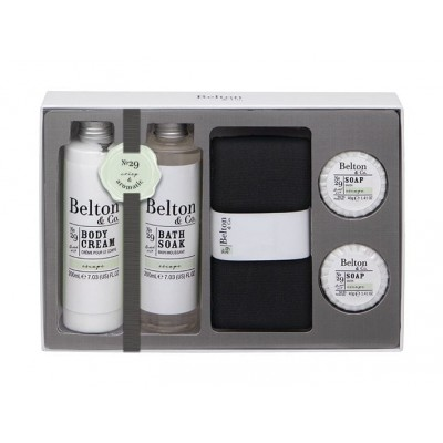 Belton & Co. Escape Bath & Body Sett 2 x 200 ml + 2 x 40 g + 1 stk