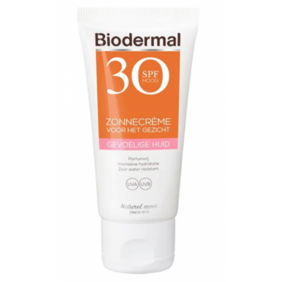 Biodermal Sunscreen Face Sensitive Skin SPF30 50 ml