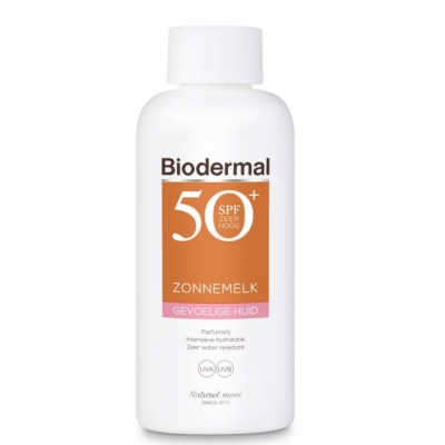 Biodermal Sun Milk Sensitive Skin SPF50+ 200 ml